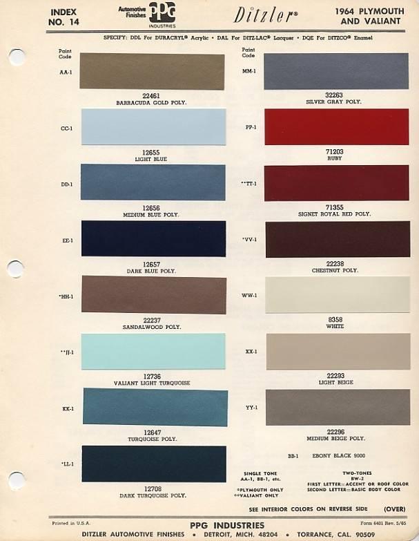 Dodge Avenger Paint Colors