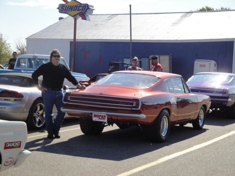 1st Drag Race Rear View Staging with Me.JPG