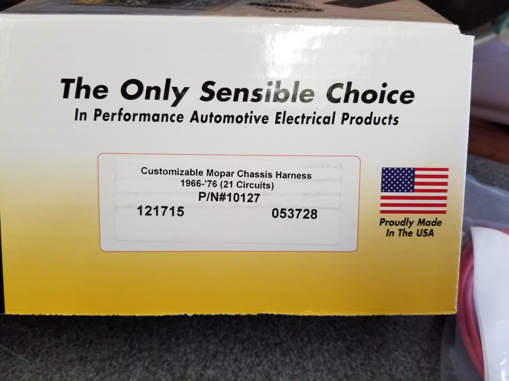 For Sale Painless Performance 21 Circuit Mopar Color Coded Wiring Harness And Chassis Universal Harnesses 10127