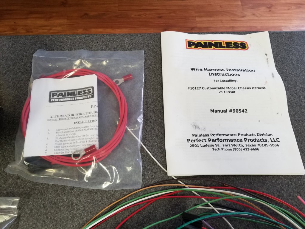 For Sale Painless Performance 21 Circuit Mopar Color Coded Wiring Harnesses Universal 10127