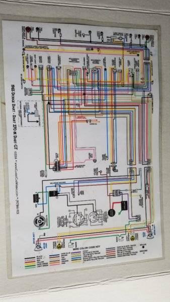 SOLD] - 1965 Dodge Dart Color Laminated Wiring Diagram   For A Bodies Only  Mopar ForumFor A Bodies Only Mopar Forum