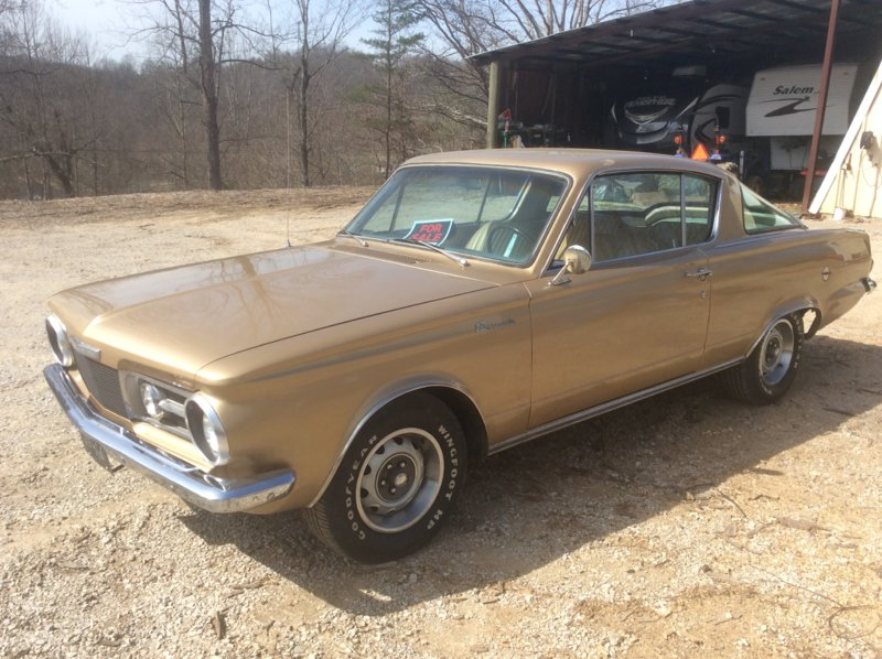 FOR SALE] - 65 Barracuda, 318 magnum, 4 speed, 3:91 suregrip   For A
