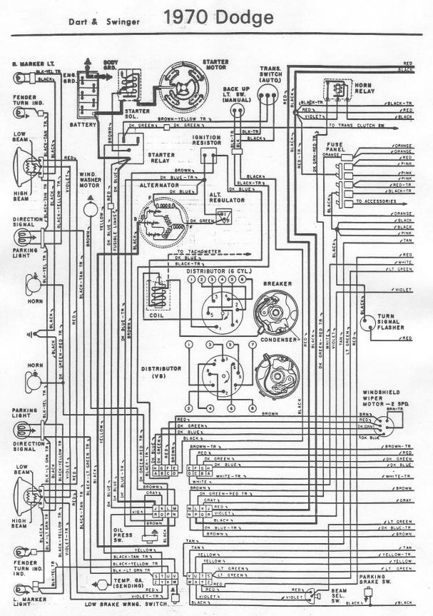 70 dart wiring diagram for a bodies only mopar forum. Black Bedroom Furniture Sets. Home Design Ideas