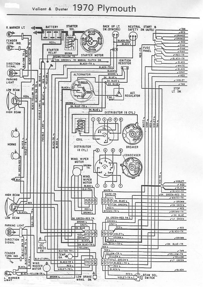 70 and 71 valiant duster wiring diagram for a bodies only mopar 1974 plymouth duster wiring diagram at crackthecode.co