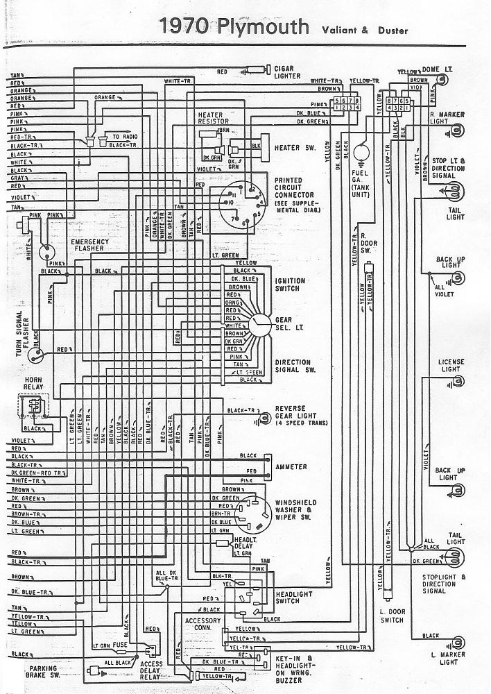 70 and 71 valiant duster wiring diagram