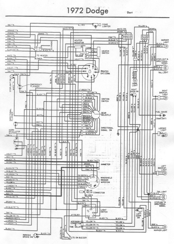 1972 Dodge Dart Wiring Diagrams On Download Wirning
