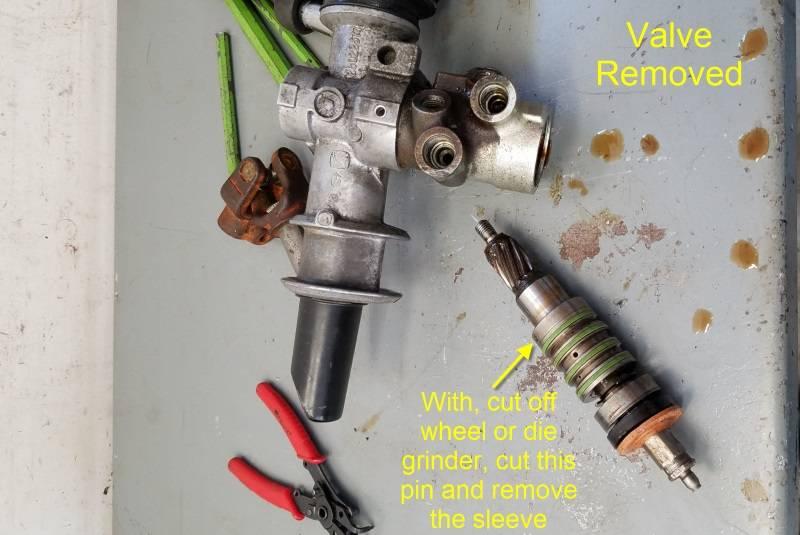 convert power steering rack to manual