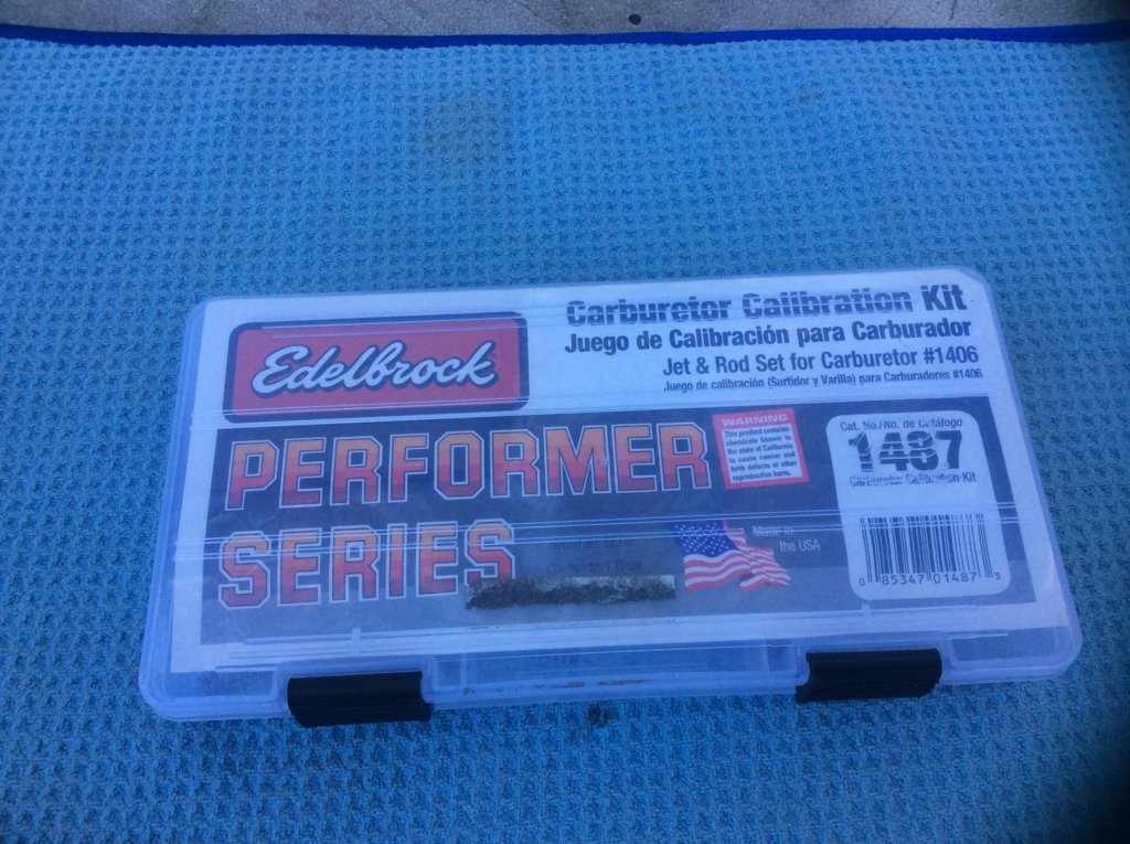 SOLD] - Edelbrock Carb Tuning Kit -#1487 | For A Bodies Only