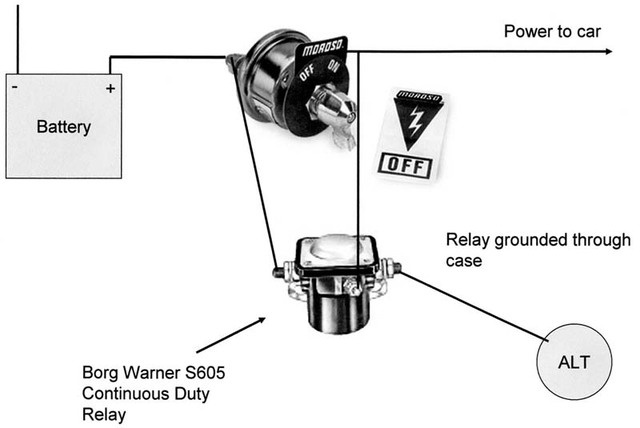 trunk mount battery kill switch diagram