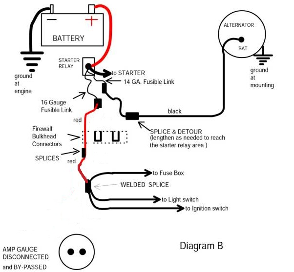 Bypass New Electrical Digital Meters : Bypassing the amp gauge question about mad