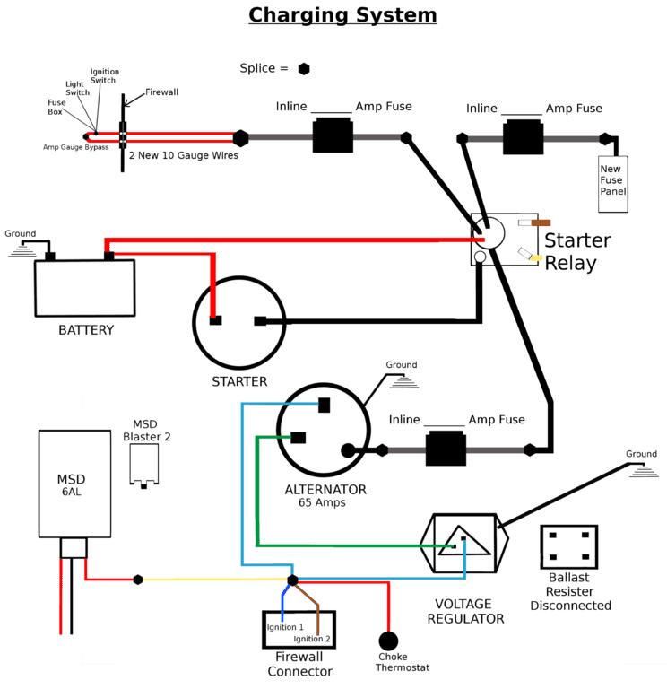 Alternator System Wiring Diagram