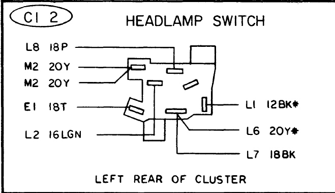 mopar headlight switch wiring diagram headlight switch 75 duster stumped for a bodies only  headlight switch 75 duster stumped