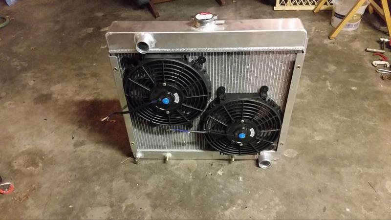Tried and true big block radiator/electric fan setups ...