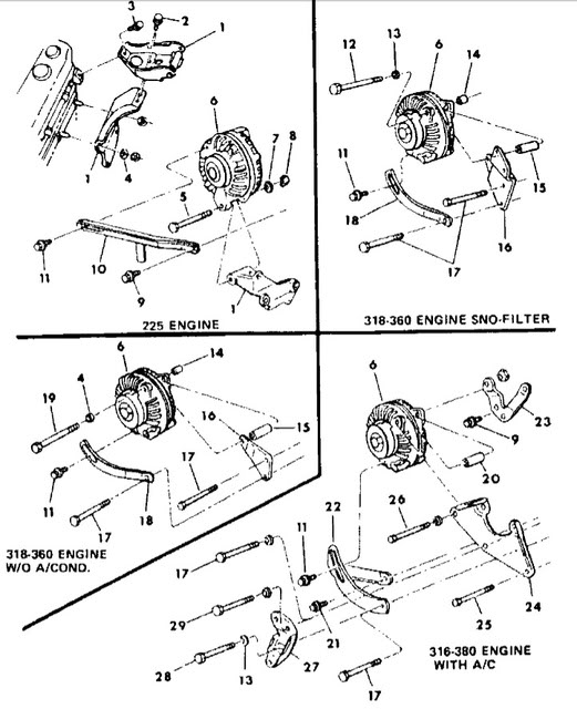 318 Engine Pulley Diagram House Wiring Symbols U2022 Rh Maxturner Co 1979 360 Water Pump Dodge Van: Diagram For 1984 Dodge B250 318 Engine At Sewuka.co