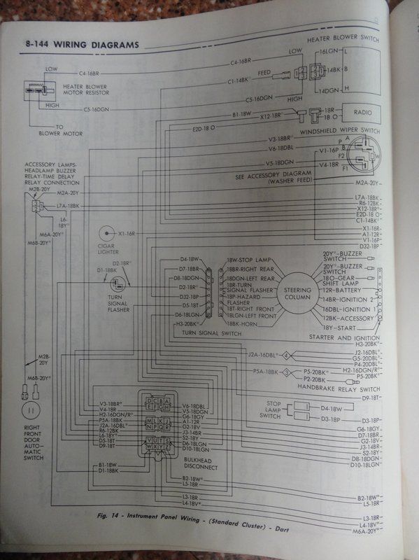 1971 Dodge Chassis Service Manual  Wire Diagrams
