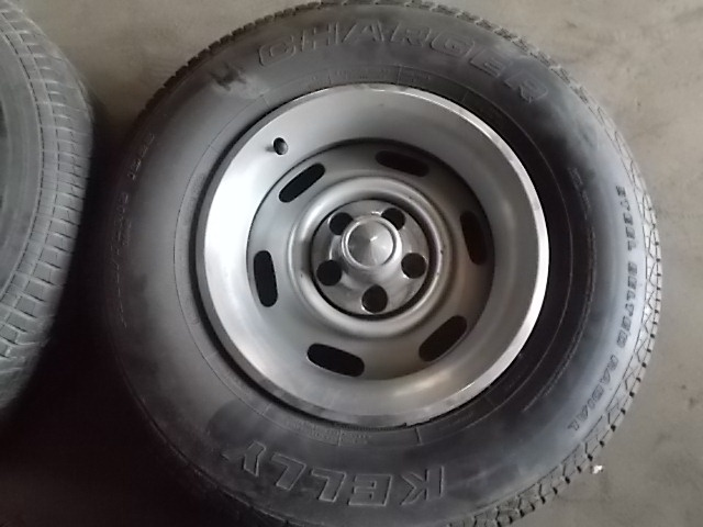 "Police Cars For Sale >> [FOR SALE] - (4) 15x7"" Rally Wheels & Center Caps, Trim Rings & Tires Police/Dodge Magnum 