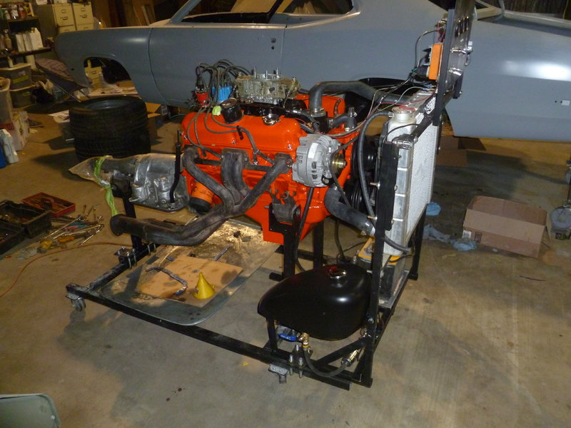engine in test stand for a bodies only mopar forum. Black Bedroom Furniture Sets. Home Design Ideas