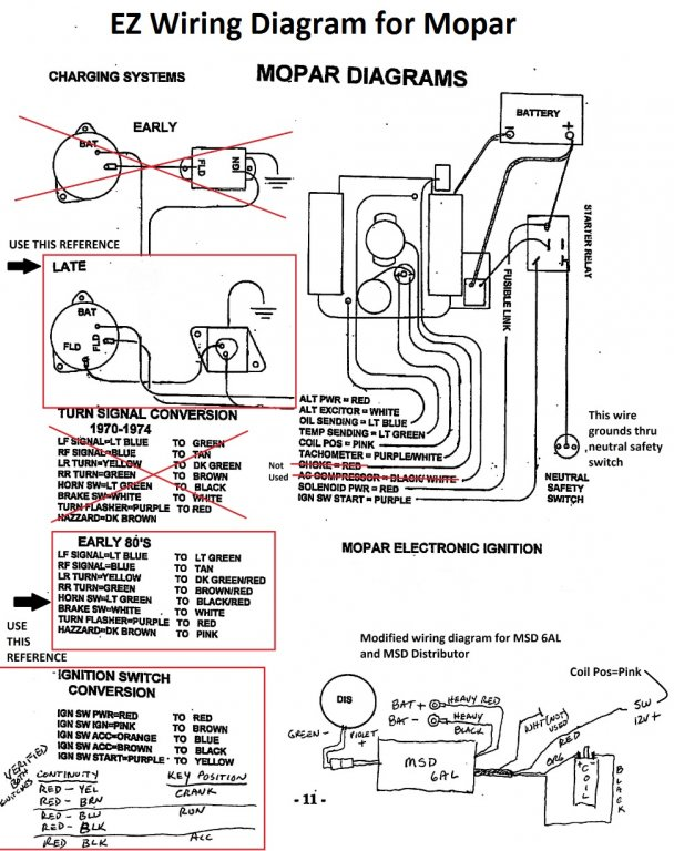 Ignition switch wires identification | For A Bodies Only Mopar ForumFor A Bodies Only