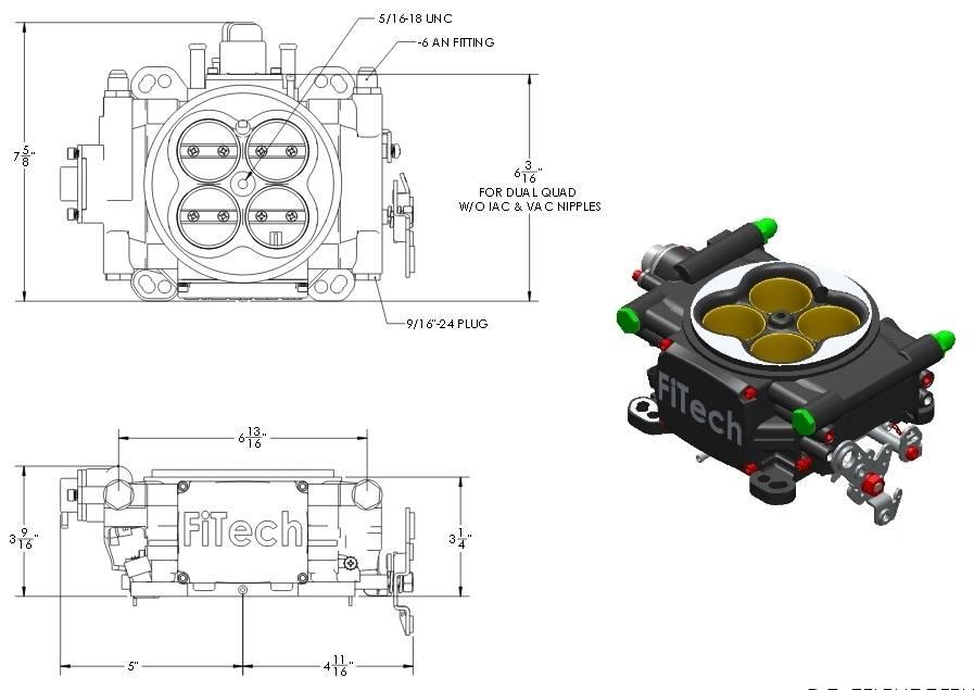 fitech throttle body height for a bodies only mopar forum