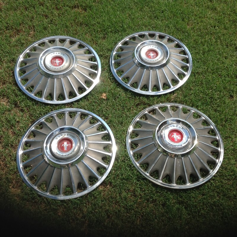 Sold 1967 Mustang Stock 14 Wheel Covers Set Of 4 For 50 For A