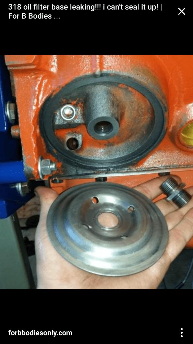 For Mopars Oil filter housing adapter bolt.