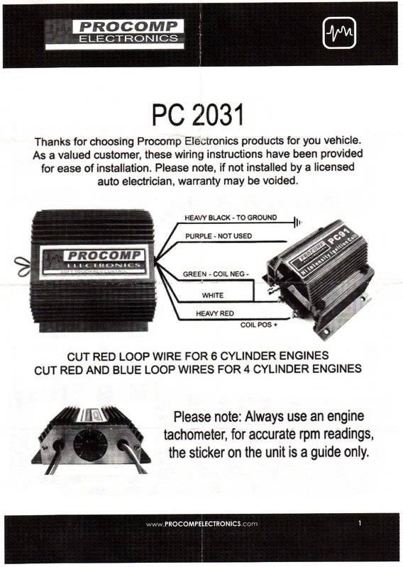 Wire Diagram For Pro Comp Pc2032 Rev Limiter