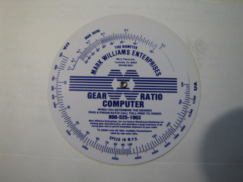 free simichrome, gear ratio calculator | For A Bodies Only
