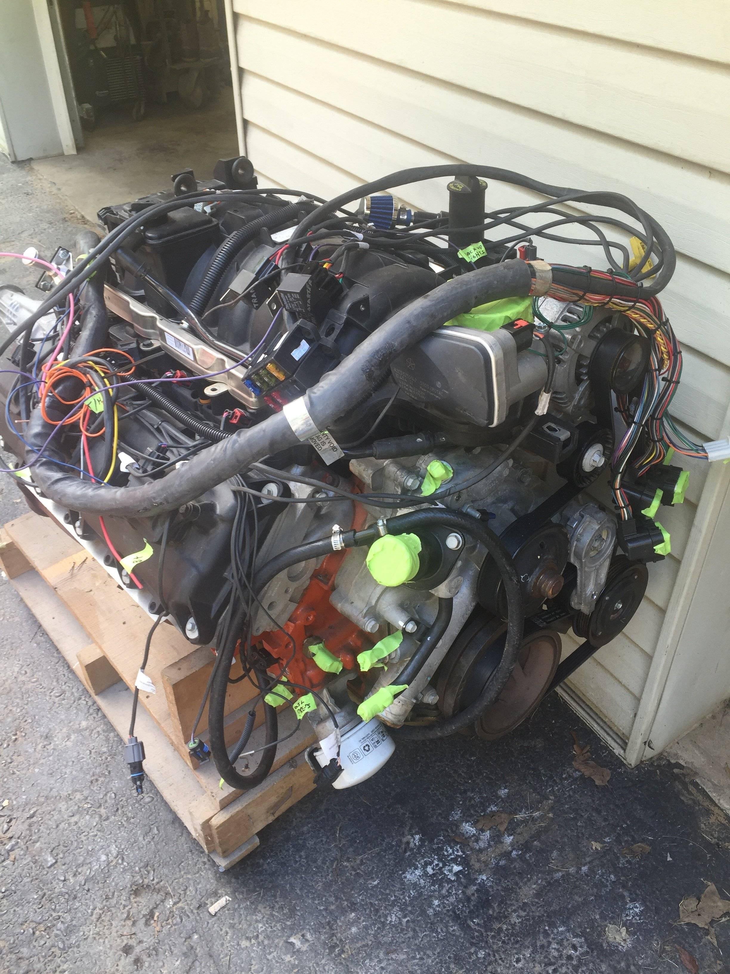 for sale 2011 dodge hemi 5 7 motor transmission 390 hp for a bodies only mopar forum. Black Bedroom Furniture Sets. Home Design Ideas