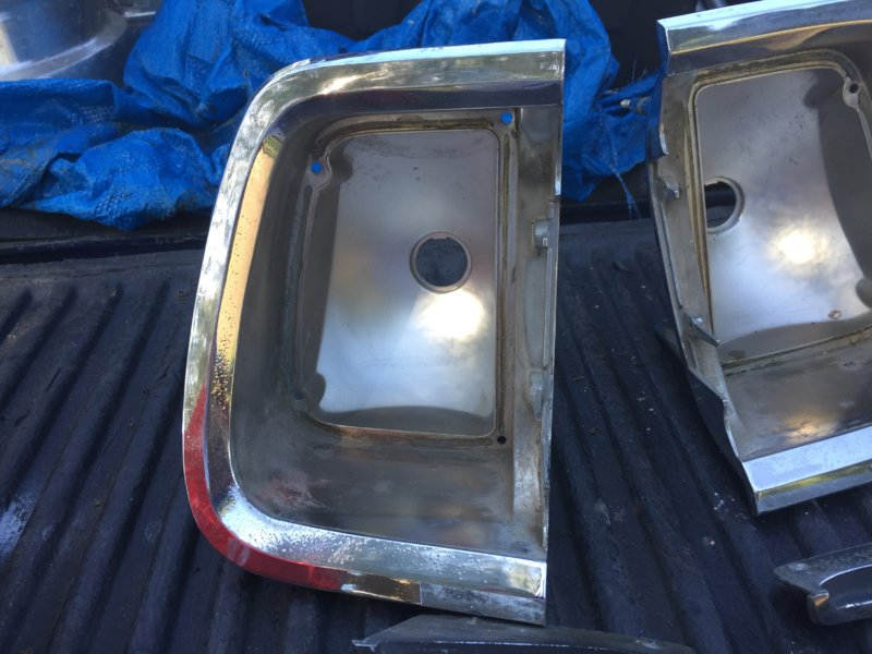 SOLD] - 1969 Barracuda tail light parts and flip top gas cap