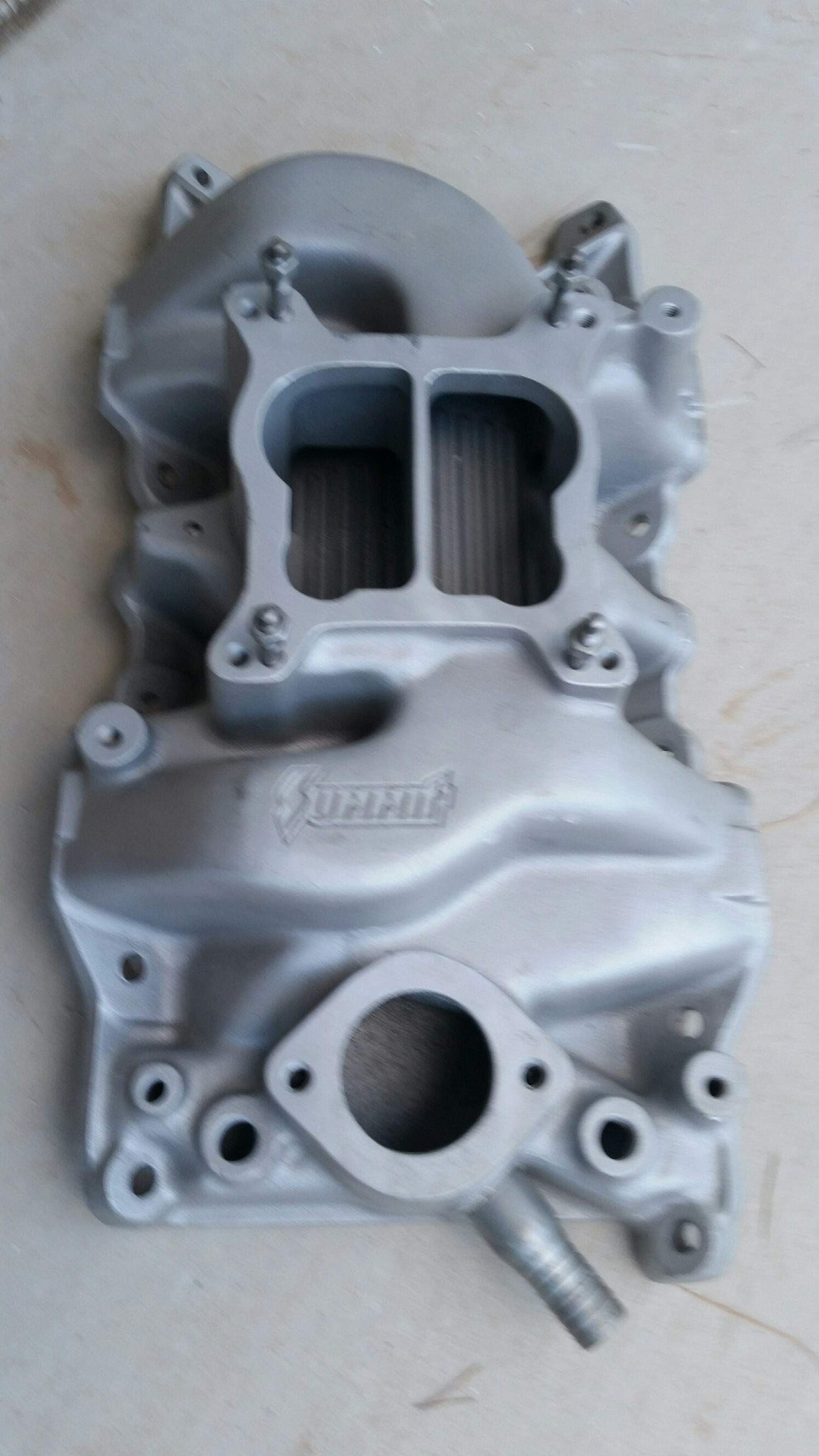 Sold summitt brand small block intake manifold for a