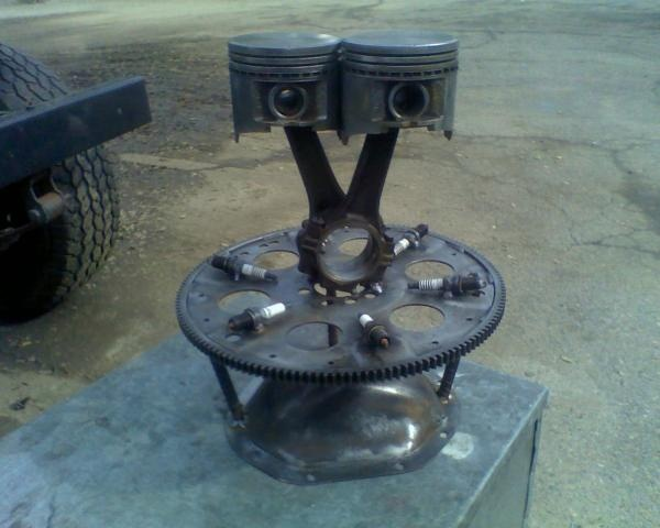 Check Out The Homemade Trophy For My Car Show For A Bodies - Piston car show trophies