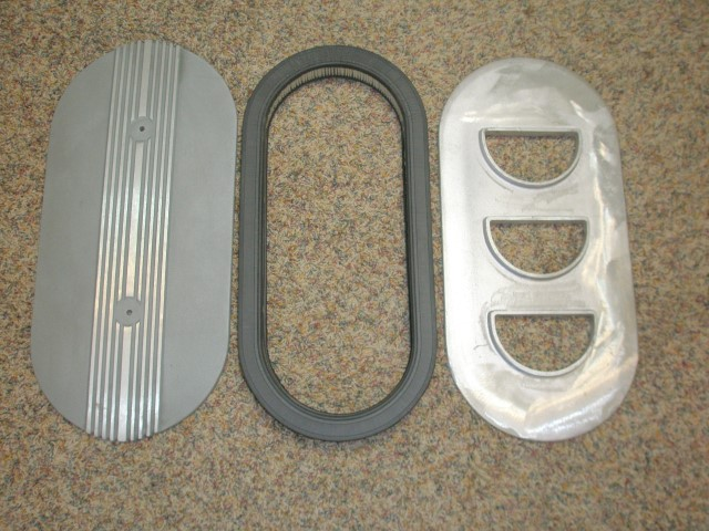 SOLD] - Mopar, Ford, Chevy, Oval Air Cleaner, 6 Pack, Tri