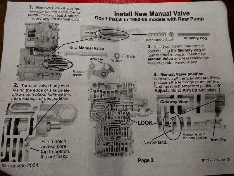46re full manual shift kit