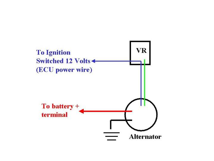 Causes High Volt Meter Reading 16 A 138521 moreover One Wire Alternator Wiring Diagram additionally External Regulator Conversion Question likewise Perko Switch Wiring Diagram besides Gm Alternator Wiring Diagram Internal Regulator. on single wire alternator hook up